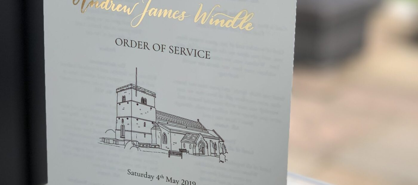 foiled order of service