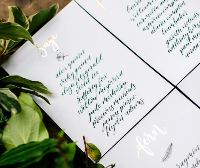 handwritten table plan