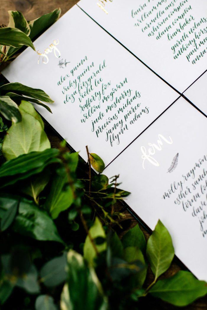 tropical table plan