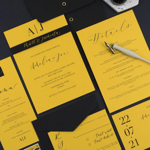 Surrey wedding invitation suite