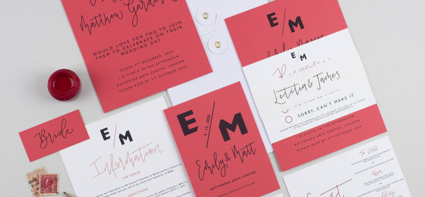 bold wedding stationery