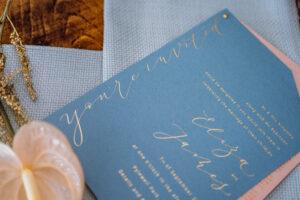 digital foil wedding invitation
