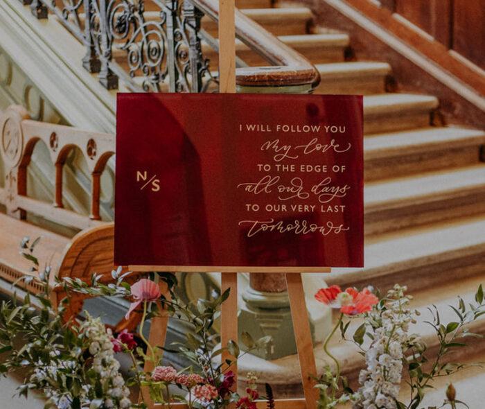 acrylic wedding signage